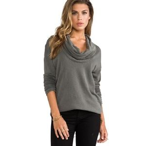 James Perse Cowl Neck Sweater 1 Small